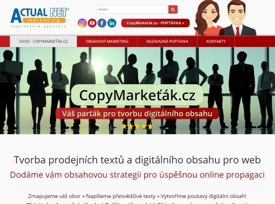 CopyMarkeťák.cz - tvorba obsahu