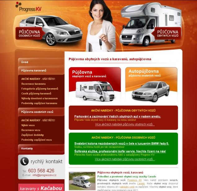 Půjčovna karavanů KV