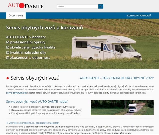 AUTO DANTE servis karavanů